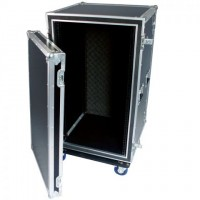 "Rhino 20U 19"" Rack Flightcase with Casters, Sleeved"